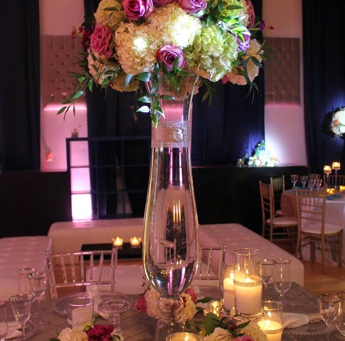 Pops of Purple Centerpiece