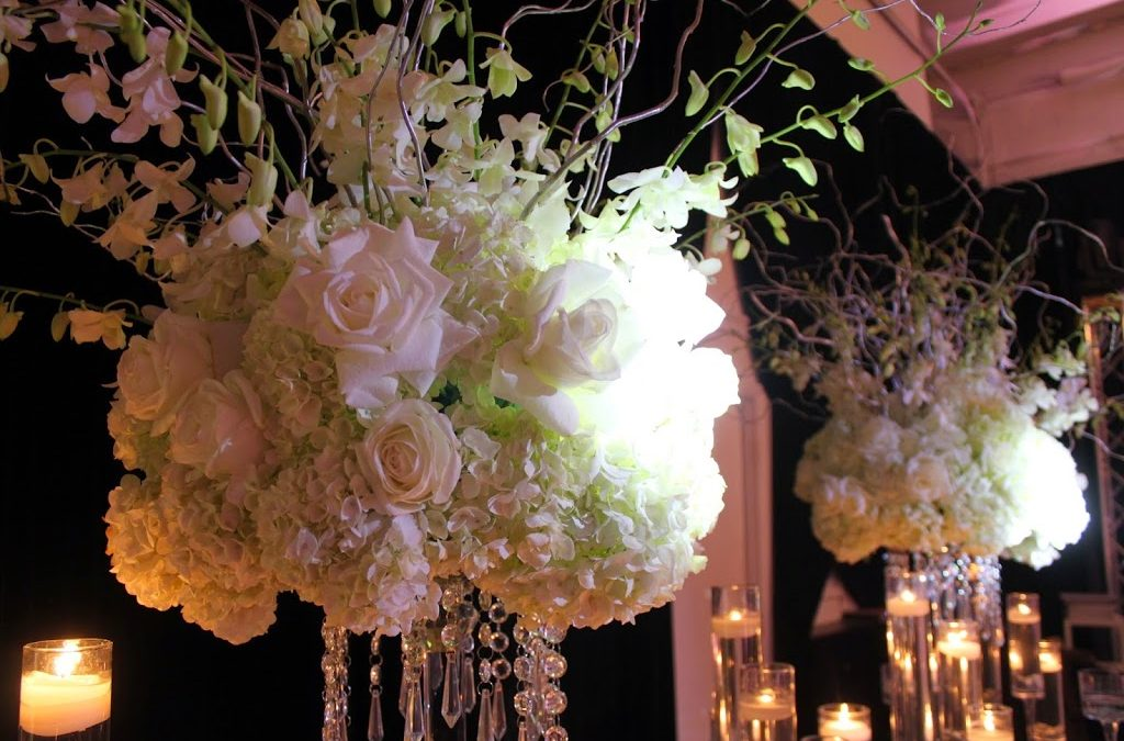 Textured White Centerpiece